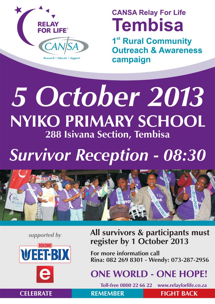 CANSA Relay For Life - Tembisa 5 October 2013