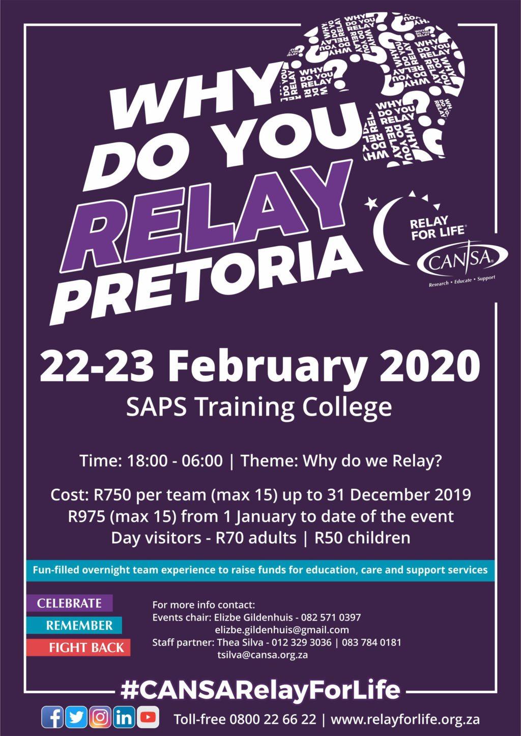 CANSA Relay For Life Pretoria   CANSA Relay For Life